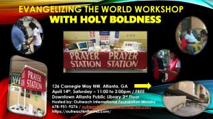 Evangelizing the World Workshop.Flyer