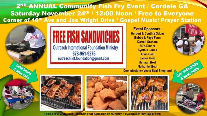 2nd Annual Cordele Fish Fry Flyer
